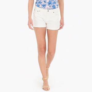 NWT J. Crew White Denim Shorts